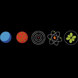 T-shirt für Physiker - Physik - Atomic Models