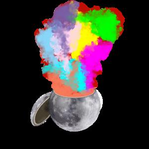 Bunt, Mond, Mondphase, Space, Geschenk