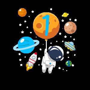 1. Geburtstag Astronaut Raumfahrt Kinder Geschenk