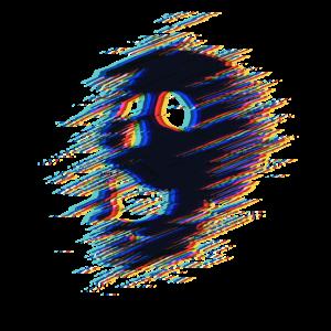 Psychedelische Schädel illusion 3