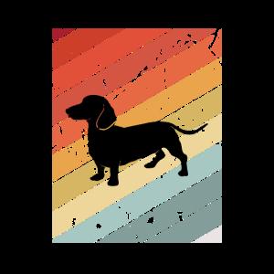 Retro Dachshund Dackel Hund Tier Geschenk