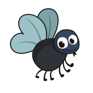 Nettes Fliegen Insekt