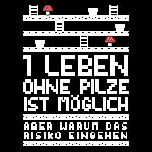 Gamer Zocker Jump & Run Retro Pilzsammler Lustig
