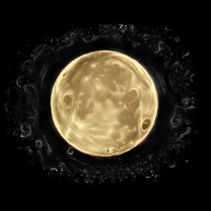 Mond Splash Grunge Malerei
