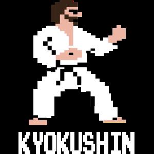 Kyokushin Pixel T shirt für Retrogamer& Karateka