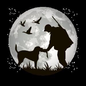 Jäger mit Hunde für Jäger Jagd und Jagen Geschenk