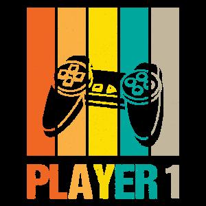 Player 1 Player 2 Gamer Vater Sohn Partnerlook