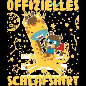süß Giraffe Bär Langschläfer Schlafanzug Schlafshi