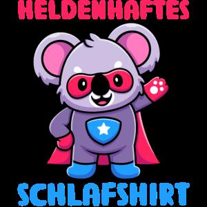 Heldenhaftes Schlafshirt Pyjama Nachthemd Koala Ge