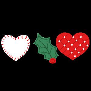 Weihnachtsgeschenke des hübschen Herzens