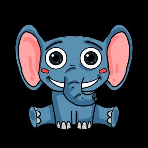 Niedliche Elefantenbaby