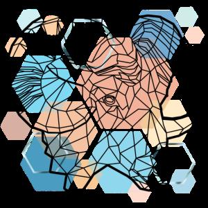 Widder Gitter Design aus Dreiecken