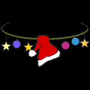Girlande Weihnachten Merry Christmas Nikolausmütze