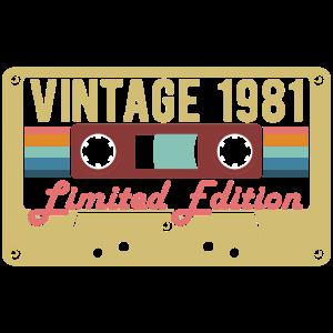 Vintage 1981 Retro Tape Geburtstag Geschenk