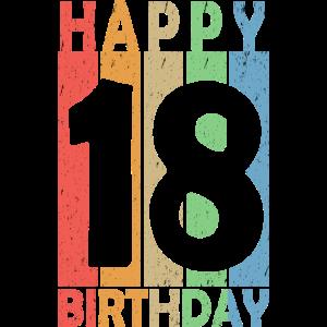 Happy Birthday 18 achtzehn