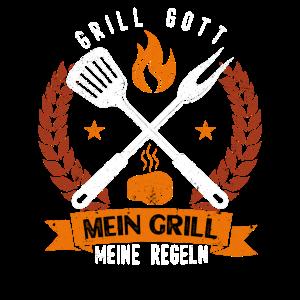 Grillgott Griller Grillen BBQ Grillmeister Motiv