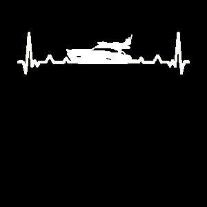 Motorboot Yacht Boot Herzschlag - Geschenk