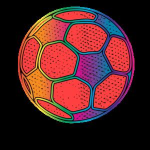 Buntes Fussball Design Retro
