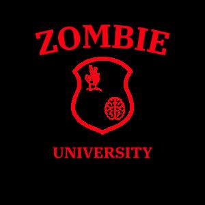 Zombie Hochschule Zombiekalypse Geschenk