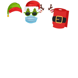 Merry Christmas 2020 Weihnachtsoutfit Maske