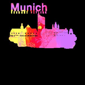 München Deutschland Skyline