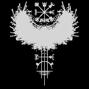 Odin Rabe Wikinger Kompass Vegvisir