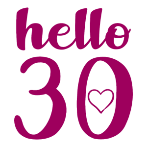Hello 30 Geburtstag Geschenk Parteien art