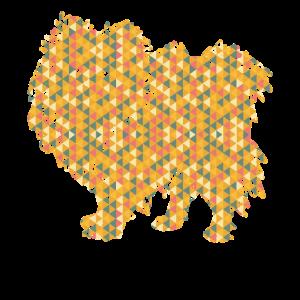 Pomeranian Geometric Tee