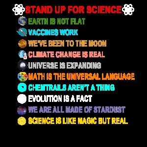 für die Wissenschaft eintreten