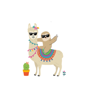 Es ist kein Problem, ein gutes Faultier und Lama zu sein