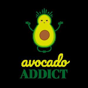 avocado addict - vegan funny quote