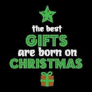 Weihnachts geburtstag Baby Rentier Geschenke Baum