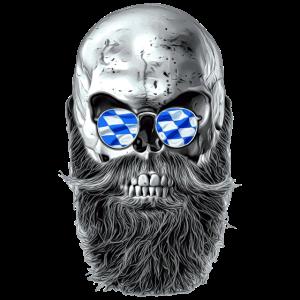 Bavarian hipster skull
