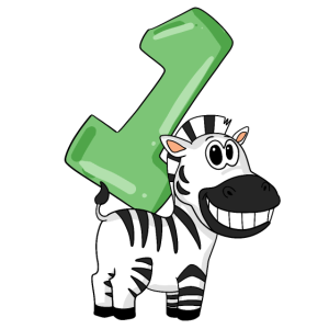 1 Geburtstag Zebra - 1 Jahre alt Geschenk