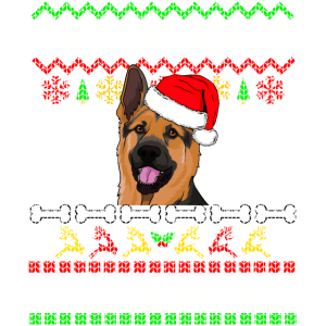 Schäferhund Geschenk zu Weihnachten