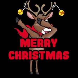 MERRY CHRISTMAS RENTIER DAB DAP Geschenk Weihnacht