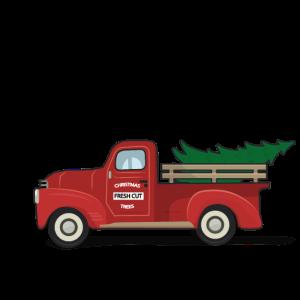 Vintage Weihnachten Oldtimer Roter Truck Christmas