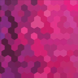 rotes Muster rosa lila Formen Raute Bienenwaben