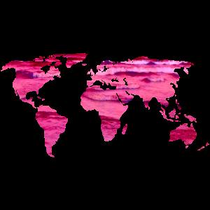 pink worldmap pinkes Meer pink love