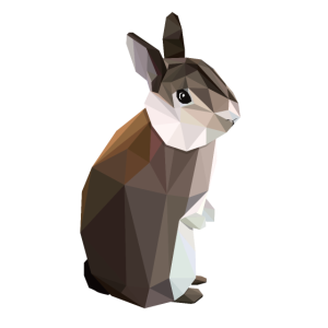 Lowpoly braunes Kaninchen - Nyhaux
