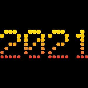 2021 gepunktet rot gelb
