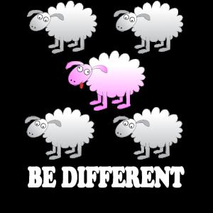 Lustige Tiere - Be different - süße Schafe