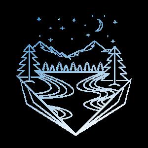 Berge und Fluss