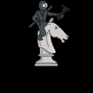Chess Grandmaster Ninja Lover Strategy Game Player