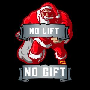 Kein Aufzug Kein Geschenk Fitness Santa Bodybuilder