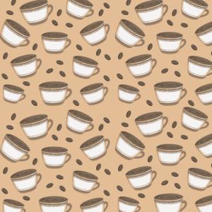 Kaffeemuster drucken Hintergrund für Koffein-Liebhaber