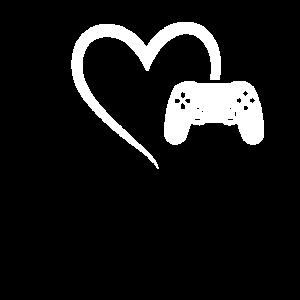 Gaming Controller Herz Game Gamer Girl Geschenk