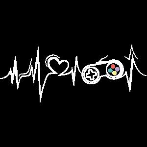 heartbeat herzschlag gamer gaming games symbol
