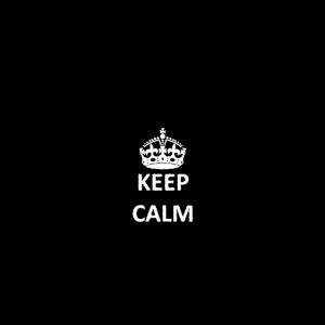 Bleib ruhig und meditiere