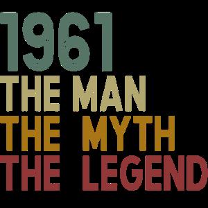 Jahrgang 1961 geboren Legende Geburtstag Geschenk